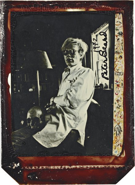 13: PETER BEARD, Andy Warhol at home with Skull
