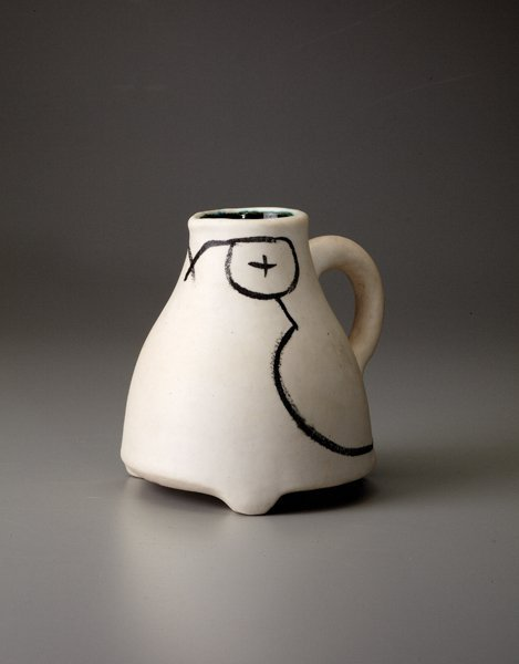 "2: GEORGES JOUVE, ""Chouette"" pitcher, ca. 1953"