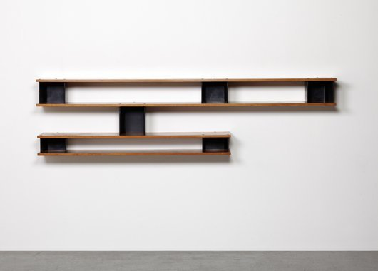 "9: CHARLOTTE PERRIAND, ""Asymétrique"" wall-mounted bookc"