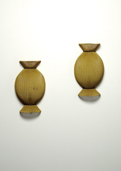 "19: MATHIEU MATÈGOT, Pair of ""Satellite"" sconces, ca. 1"