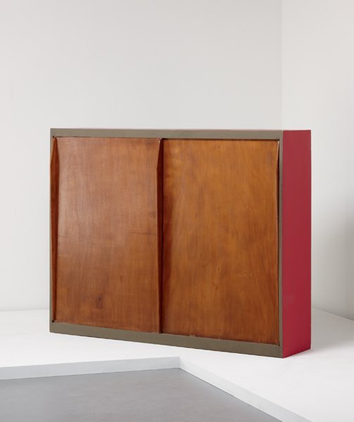 23: LE CORBUSIER, Wardrobe/room divider, from the Unité
