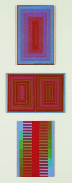 2: RICHARD ANUSZKIEWICZ, Three Untitled Christmas cards