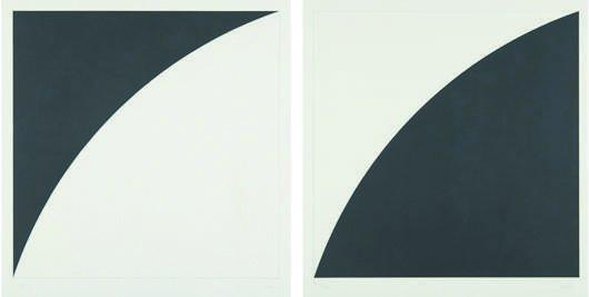 13: ELLSWORTH KELLY, White Curve I (Black curve I) and