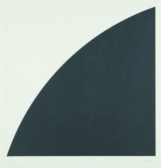 14: ELLSWORTH KELLY, Black Curve I (White Curve I), 197