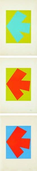15: ELLSWORTH KELLY, Blue over Green; Orange over Green