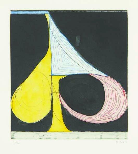 23: RICHARD DIEBENKORN, Five Spades series: Tri-Color S