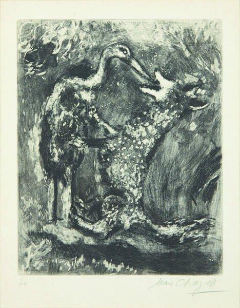 122: MARC CHAGALL, Fables de la Fontaine series: Le lou
