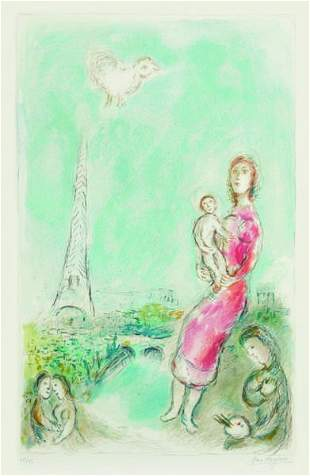 124: MARC CHAGALL, Maternité rouge, 1980