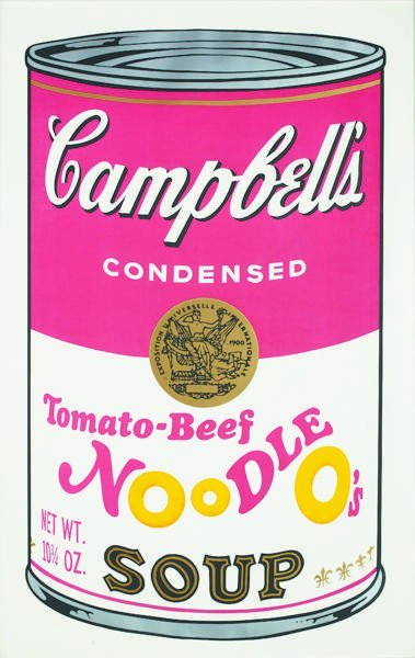 318: ANDY WARHOL, Campbell's Soup II: Tomato-Beef Noodl