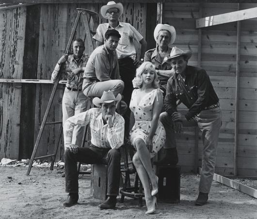 """6: ELLIOTT ERWITT, On the set of """"The Misfits,"""" Reno, N"""
