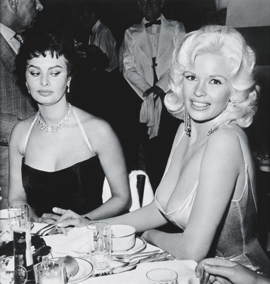 10: JOE SHERE, Jayne Mansfield and Sophia Loren at Roma