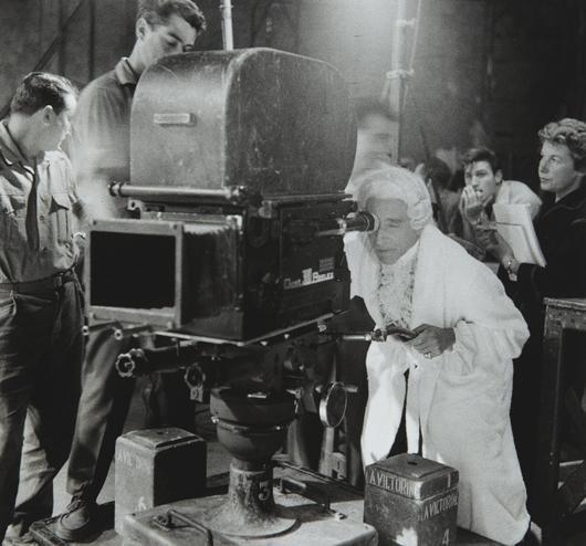 17: LUCIEN CLERGUE, Jean Cocteau filming Testament of O