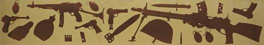18: PINO PASCALI, Due metri di armi, 1964