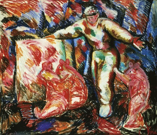 27: SANDRO CHIA, Le marchand d'art et ses oursons, 1984