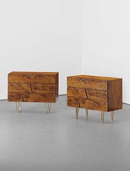 160: GIO PONTI, Rare pair of chests of drawers, 1950s