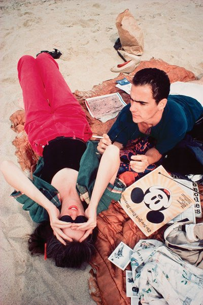1235:  NAN  GOLDIN  (b. 1953)  C.Z. AND MAX ON THE BEAC