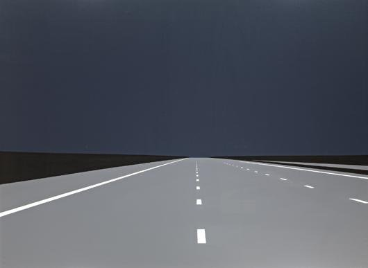 Julian Opie, Imagine You are Driving at Night (3), 1993