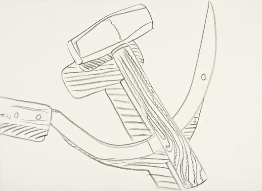 Andy Warhol, Still Life (Hammer and Sickle), c. 1977