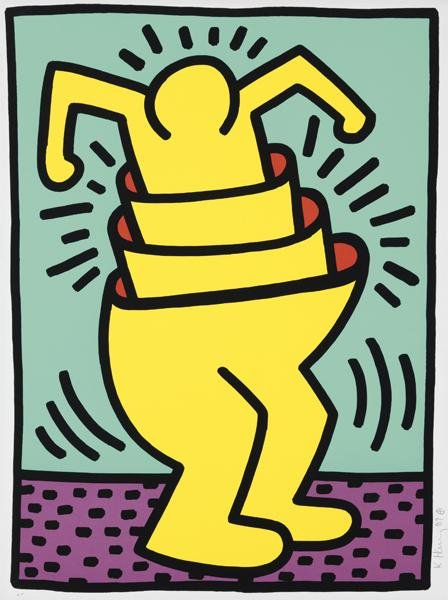 Keith Haring, Ascending, 1989