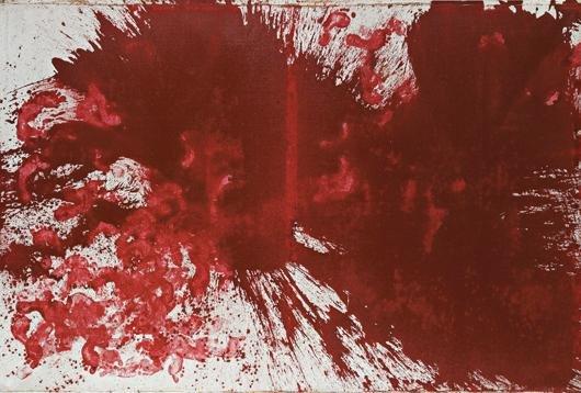 9: HERMANN NITSCH, Schüttbild (Splatter Painting), 1983