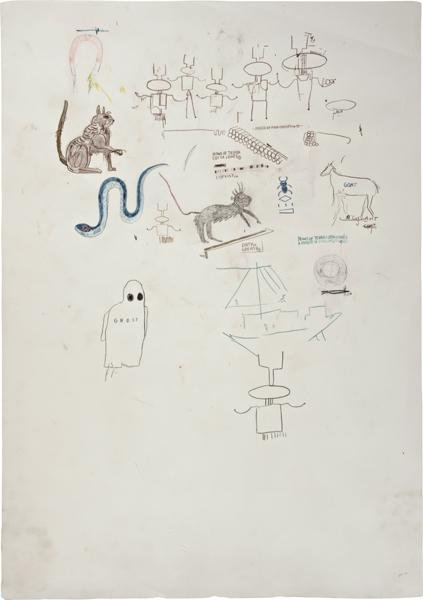 14: JEAN-MICHEL BASQUIAT, Ghost, 1986
