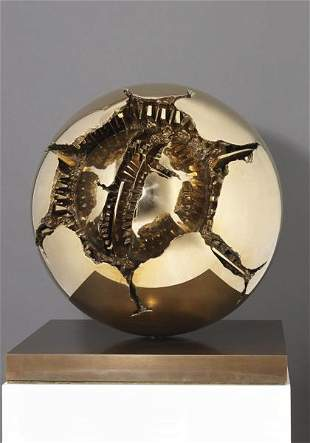 24: ARNALDO POMODORO, Sfera con sfera (Sphere within sp