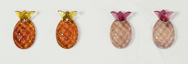 """14: TWO PAIRS OF """"PINEAPPLE"""" EARCLIPS - GAVELLO"""