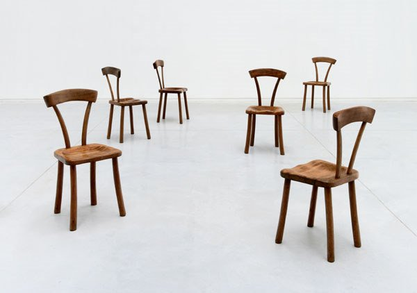 144:  ALEXANDRE  NOLL  RARE SET OF SIX CHAIRS, CA 1943
