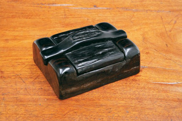 151:  ALEXANDRE   NOLL  BOX, CA. 1950  ebony, signed An