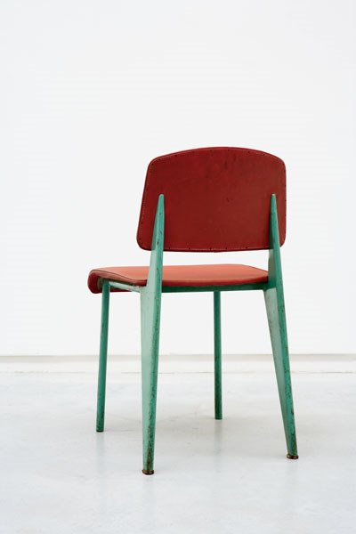 155:  JEAN  PROUVE  EARLY CHAIR, 1934  original vinyl u