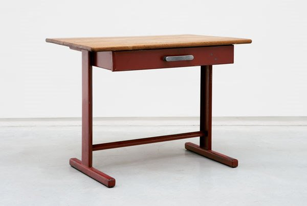 "156:  JEAN  PROUVE  EARLY DESK ""CITE"" 1932  lacquered b"