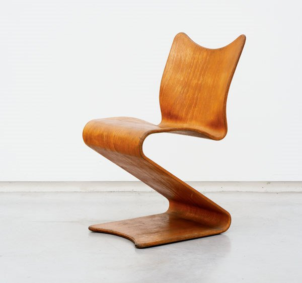193:  VERNER  PANTON  SINGLE S CHAIR, MODEL NO. 275, CA