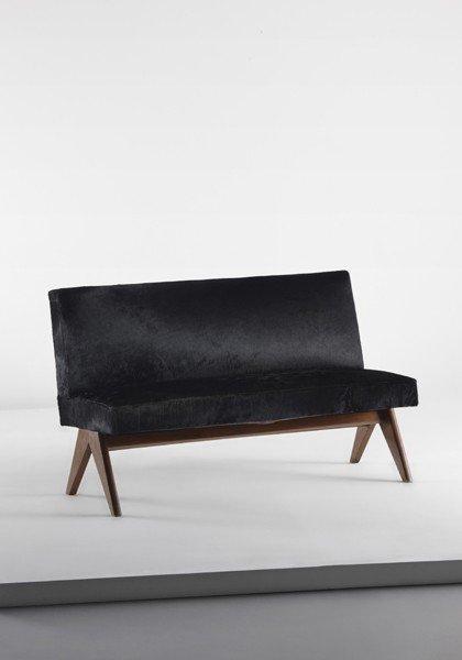 5: PIERRE JEANNERET, Straight-leg bench, from Chandigar