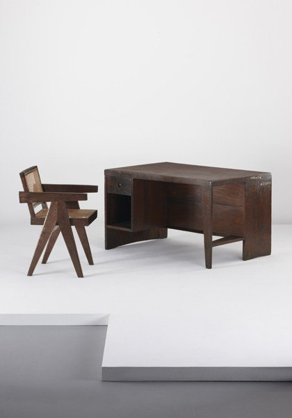 8: PIERRE JEANNERET, Conférence' armchair, from Chandig
