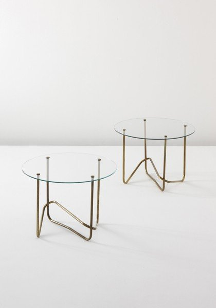 13: MATHIEU MATÉGOT, Pair of side tables, c. 1960