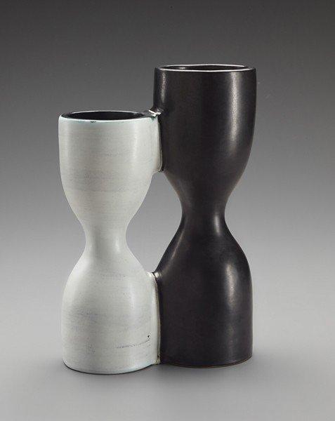 18: GEORGE JOUVE, Rare double 'Diabolo' vase, c. 1956
