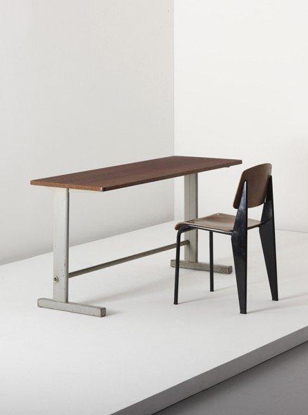 19: JEAN PROUVÉ, 'Cité' table, model no. 500, c. 1953
