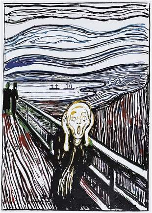 8: Andy Warhol, The Scream (After Edvard Munch), 1984