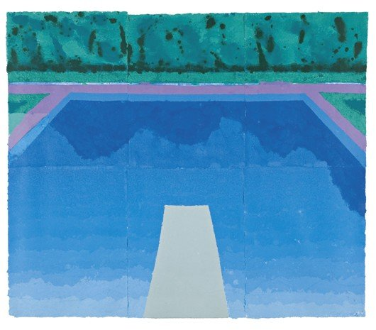 13: David Hockney, Autumn Pool (Paper Pool 29) , 1978