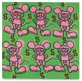 110: Keith Haring, Andy Mouse, 31270