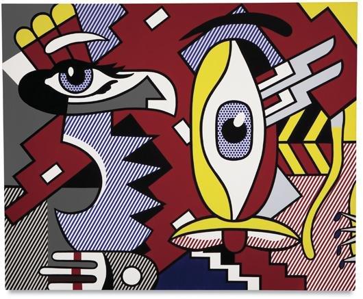 116: Roy Lichtenstein, Two figures, Indian, 1979