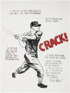 RAYMOND PETTIBON, Untitled (Crack...Play ball) , 2