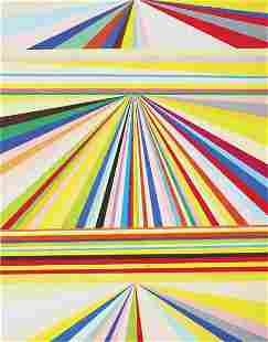 MARK GROTJAHN, Untitled (Three-Tiered Perspective)