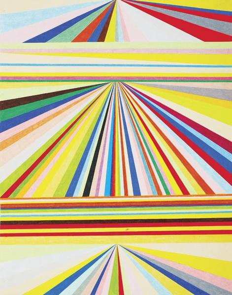 210: MARK GROTJAHN, Untitled (Three-Tiered Perspective)
