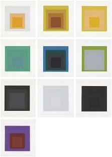 JOSEF ALBERS, Soft Edge-Hard Edge portfolio, 1965