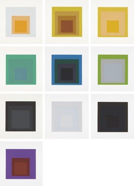 1: JOSEF ALBERS, Soft Edge-Hard Edge portfolio, 1965