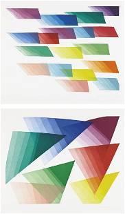 PIERO DORAZIO, Untitled (Color Fax); and [Untitled]