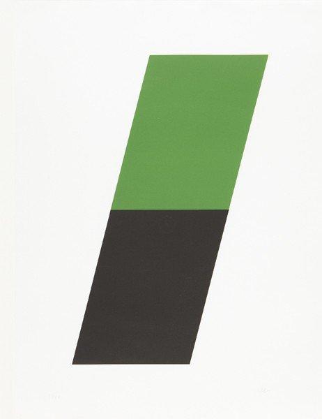15: ELLSWORTH KELLY, Green/Black, 1970-72