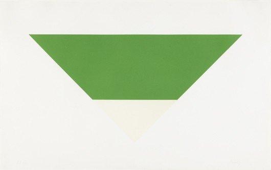 17: ELLSWORTH KELLY, Green/White, 1972