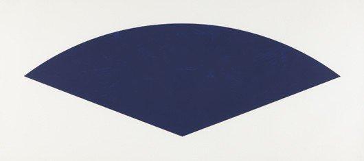 19: ELLSWORTH KELLY, Blue Curve (State II), 1988